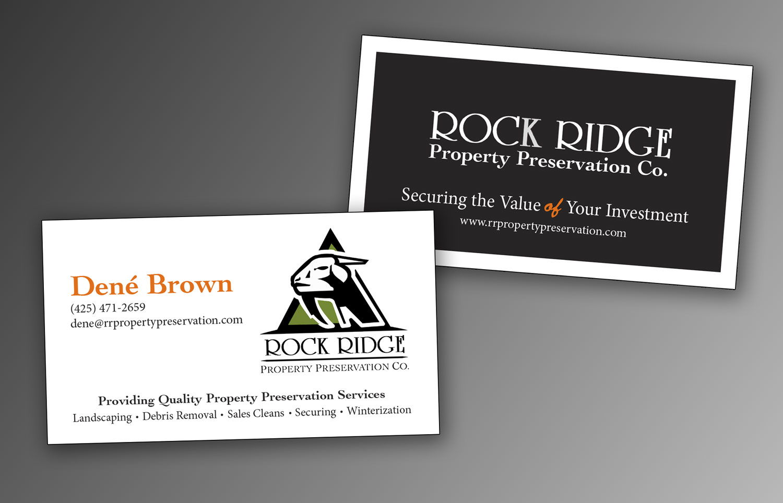 Business Cards Rock Ridge Property Preservation Co